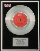 "THE CLASH - 7"" Platinum Disc - ENGLISH CIVIL WAR"
